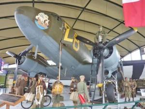Dakota display – airborne Museum St Mere Eglise