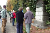 Group at the First and Last shots of WW1 Memorial – Mons and Ypres Battlefield Tour