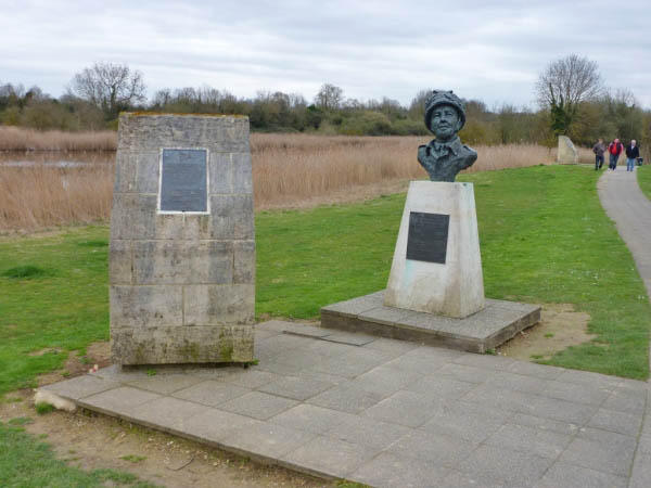 05 Site of 1st Glider to land at Pegasus Bridge and bust of Major Howard