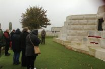 Wreath laying ceremony at Tyne Cot Ceremony – 2013 Armistice Day in Ypres and Battlefield Tour