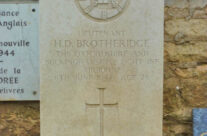 Grave of Lt Brotheridge, first allied soldier killed on D-Day at Pegasus Bridge – Normandy and D-Day Landings Tours