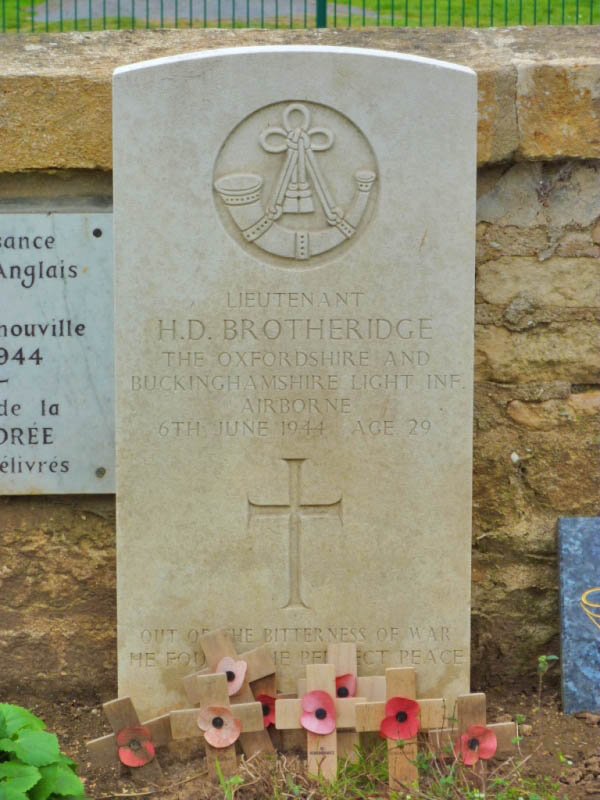 09 Grave of Lt Brotheridge. first allied soldier killed on D-Day at Pegasus Bridge