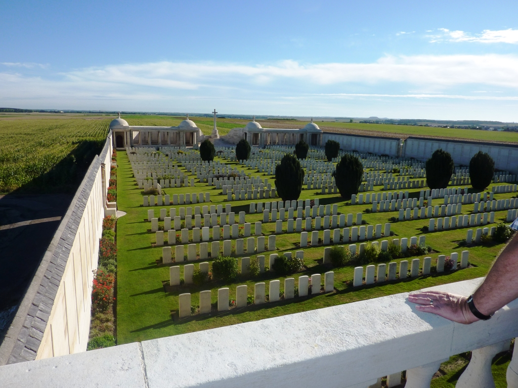 1 Dud Corner and Loos Memorial from viewing platform