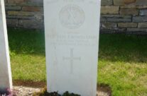 The Hon F Bowes Lyon's grave, now discovered, Quarry Cemetery, Vermelles, Loos – Loos and Ypres Battlefield Tour
