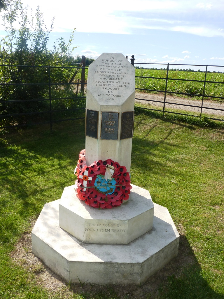 12 Memorial to the men of the North Midland Division who attacked the Hohenzollern Redoubt