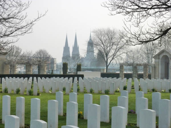 14 Bayeux Cathederal viewed from cemetery