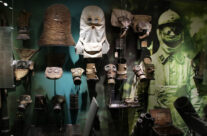 Selection of early gas masks in Passchendaele Museum – Somme and Ypres Battlefield Tour