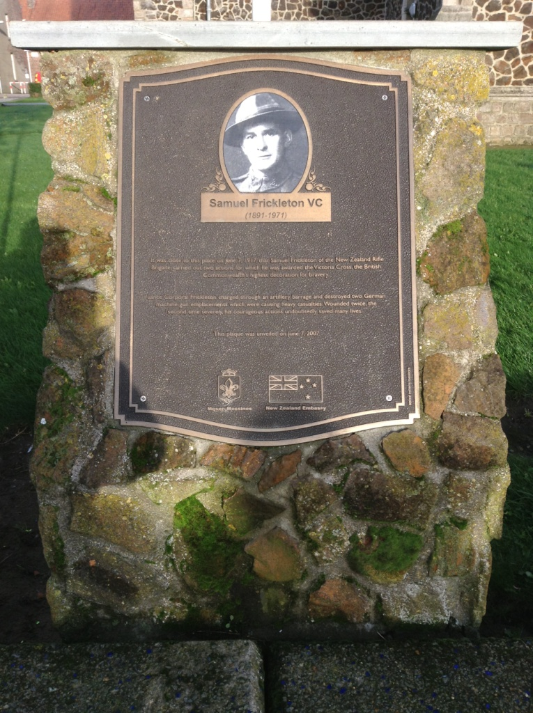16 VC winner Samuel Frickleton from New Zealnd remembered at Messines Church