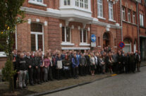 The Cleveland Army Cadets outside the Salient Hotel, Ypres – Somme and Ypres Battlefield Tour