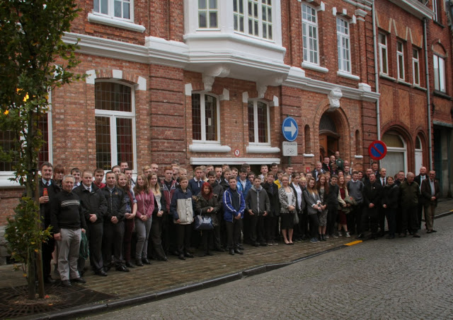 17 The Cleveland Cadets outside the Salient Hotel,Ypres