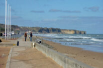 Centre of Omaha Beach looking west – Normandy and D-Day Landings Tours