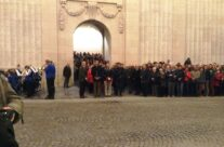 Our New Zealand guests taking part in the Last Post Ceremony at the Menin Gate – Mons and Ypres Battlefield Tour