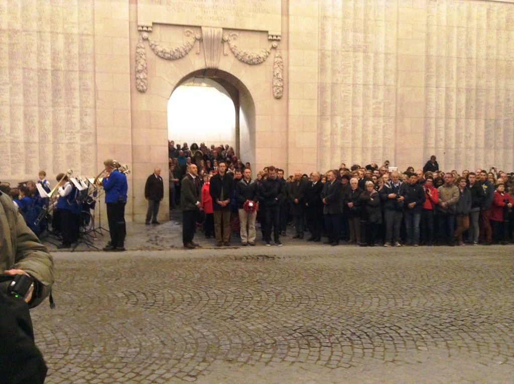 21 Our New Zealand guests taking part in the Last Post Ceremony at the Menin Gate