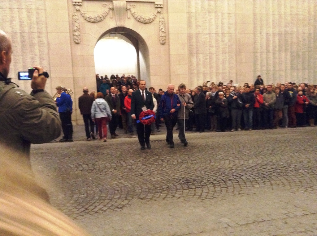 22 Tony, Kevin and Paul taking part in the Last Post Ceremony at the Menin Gate