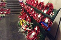 The poppy wreaths after the Last Post Ceremony, Menin Gate – Mons and Ypres Battlefield Tour