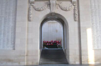 After the Last Post Ceremony, our wreath at the Menin Gate – Somme and Ypres Battlefield Tour