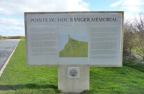 Pointe du Hoc Ranger Memorial information sign – Normandy and D-Day Landings Tours