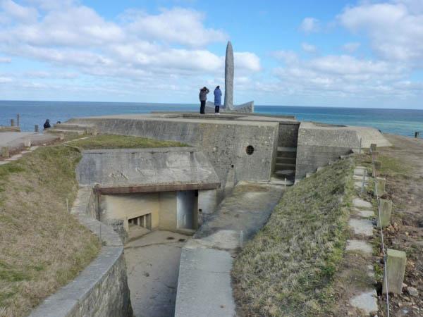 28 Observation Bunker at Pointe Du Hoc
