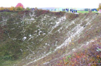 Another view of the Lochnagar Crater – Somme and Ypres Battlefield Tour