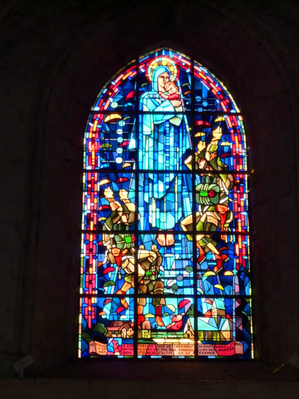38 Stain Glass Window, Ste Mere Eglise Church Depicting Para Troopers