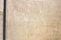 Lt John Kipling's name on Loos Memorial – Loos and Ypres Battlefield Tour