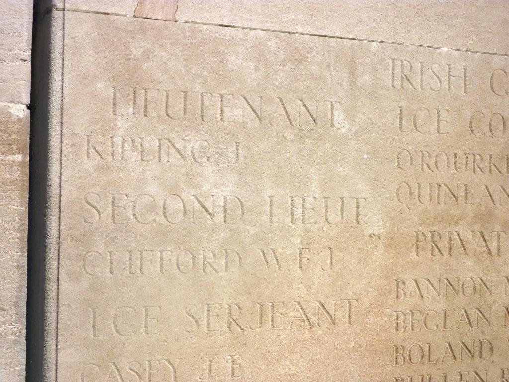 6 Lt John Kipling's name on Loos Memorial