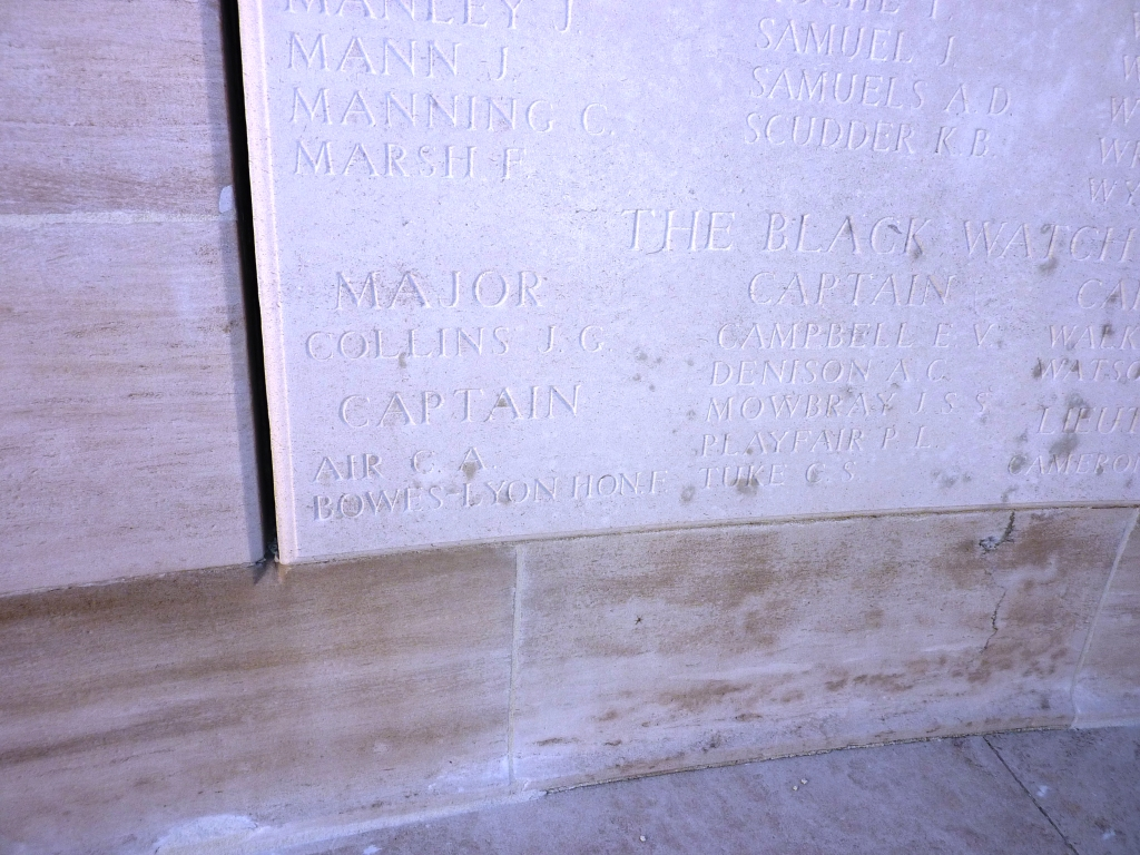 7 Capt Bowes Lyon - The Queen Mother's Brother remembered on the Loos Memorial
