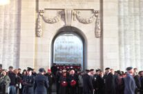 Some of the group beneath the Menin Gate at the Last Post Ceremony – Ypres Salient Battlefield Tour