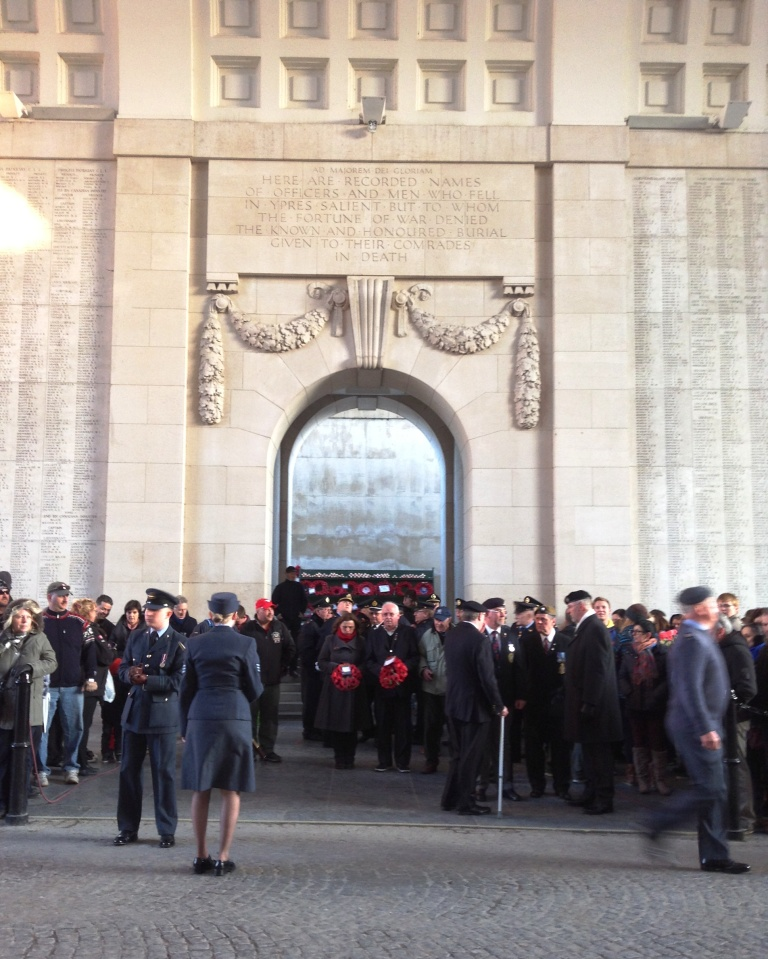 04 Some of the group beneath the Menin Gate at the Last Post Ceremony