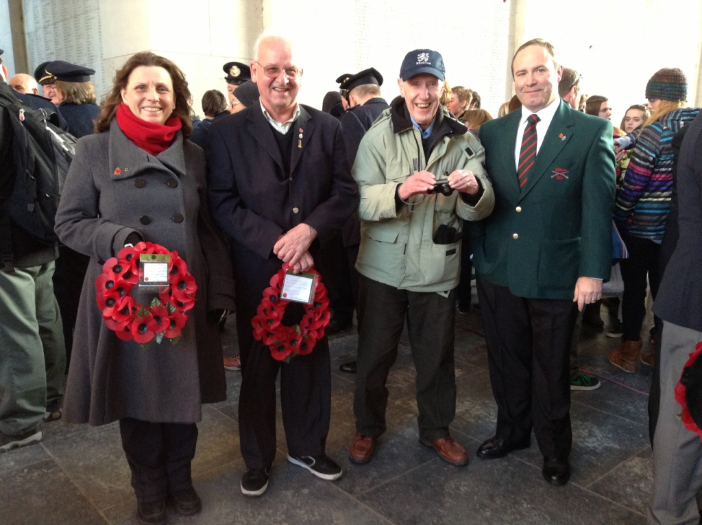 05 Tour party members with Tony at the Menin Gate for the Last Post Ceremony