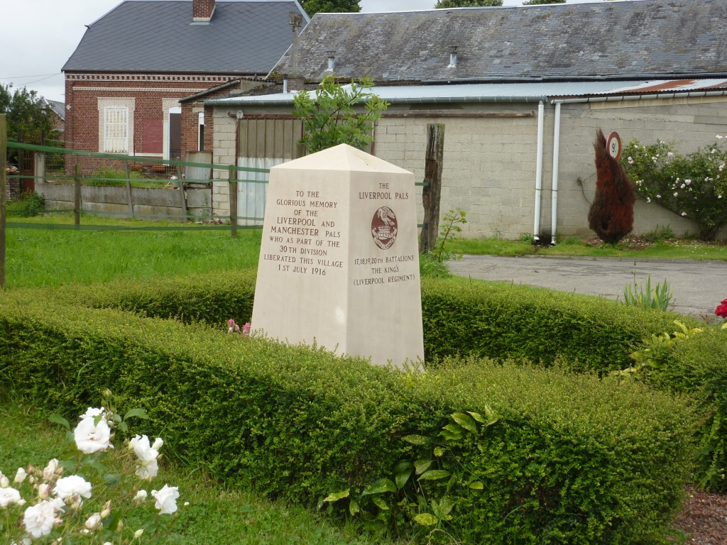 13 Liverpool and Manchester Pals Memorial at Montauban on the Somme