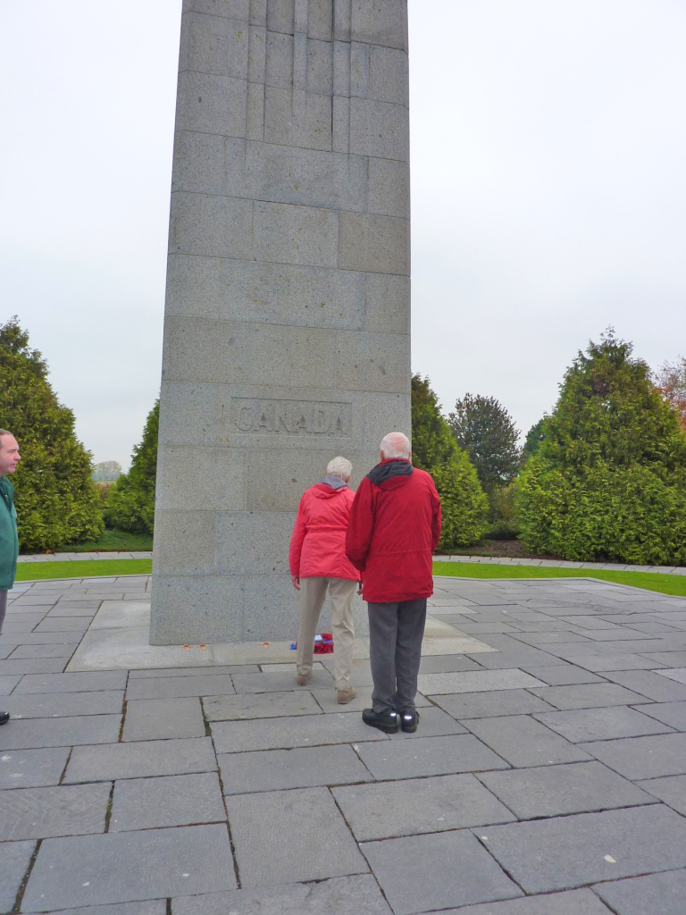 14. Our Canadian tour members laying a wreath at Vancouver Corner