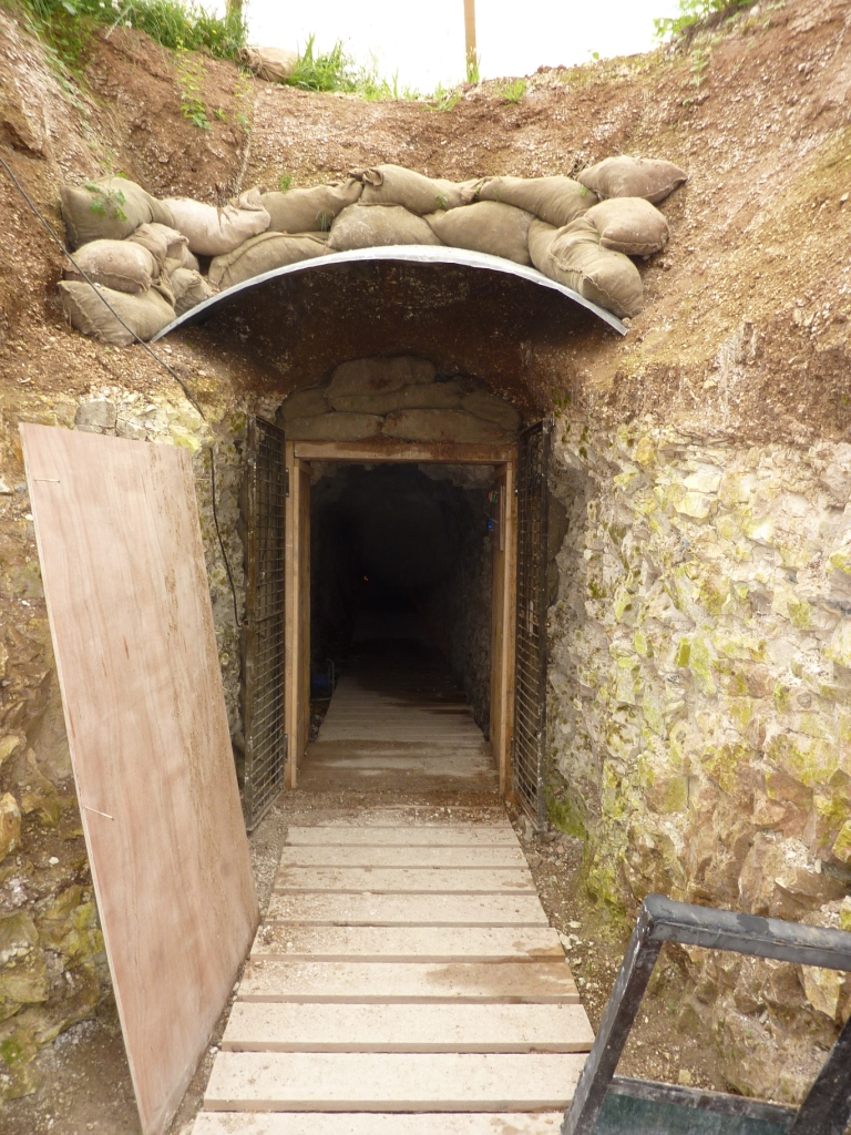 15 Entrance to the tunnels at La Boisselle