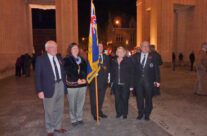 Some of our group from the Ox & Bucks WFA taking part in the Last Post Ceremony, Menin Gate – Somme and Ypres Battlefield Tour