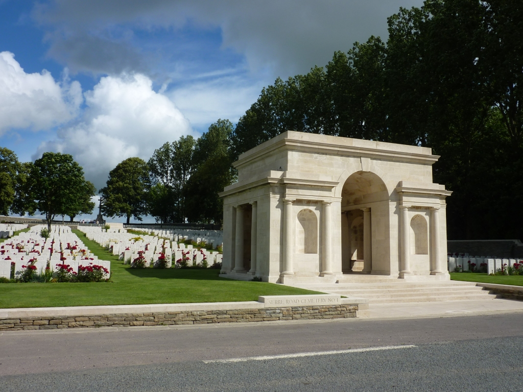 2 Entrance to Serre Road Cemetery No 1