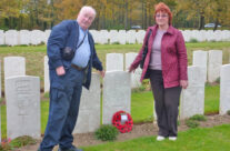 A personal visit for Ian and June; June's Grandfather's grave, Etaples Cemetery – Somme and Ypres Battlefield Tour