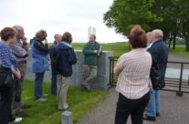 Tony Eden of Rifleman Tours addresses the group at Vimy Ridge – Somme Battlefield Tour