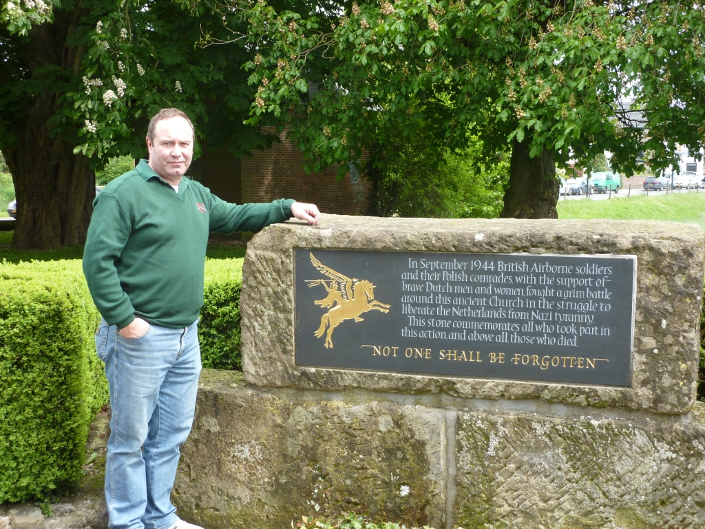 25. Tony at the Memorial at Lonsdale Church