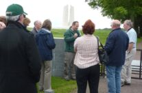 Tony Eden of Rifleman Tours with the group at Vimy Ridge – Somme Battlefield Tour