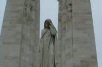 Mother Canada and the spires of the Vimy Ridge Canadian Memorial – Somme Battlefield Tour