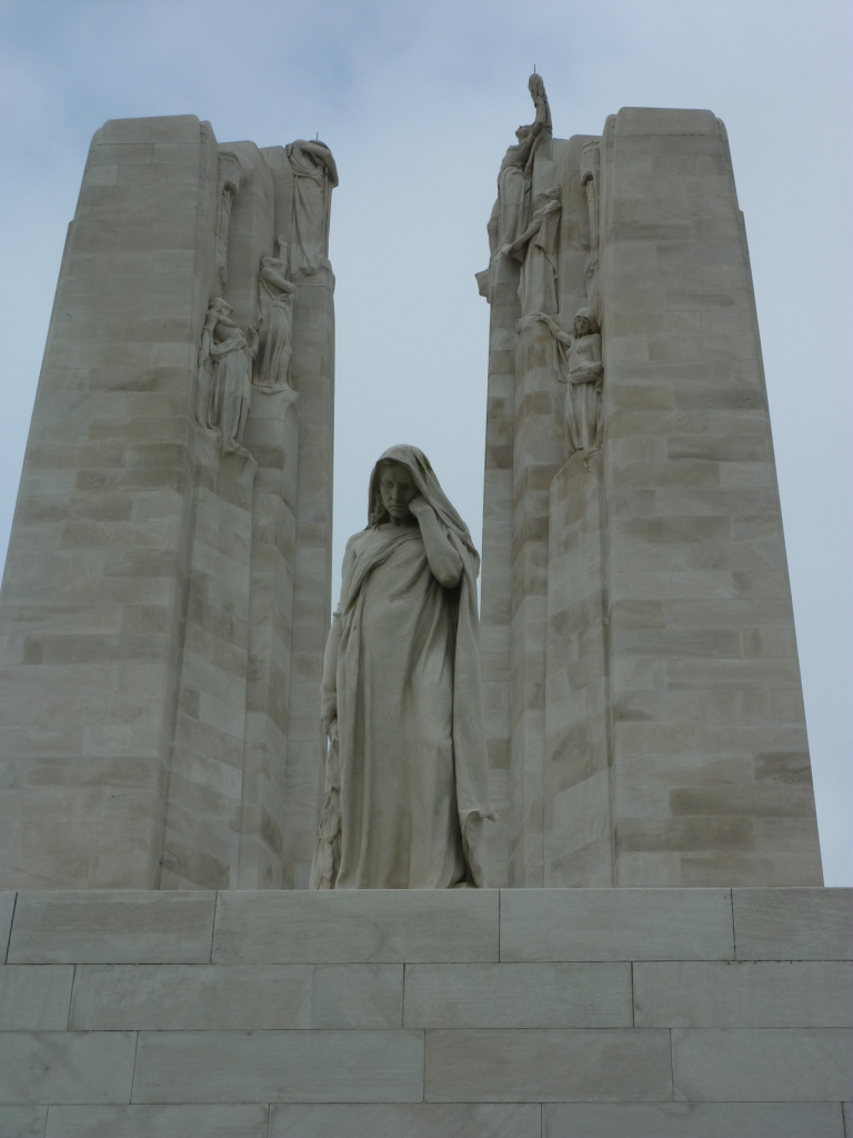 29 Mother Canada and the spires of the Vimy Ridge Canadian Memorial