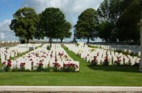 Looking up at Serre Road Cemetery No 1 – Somme Battlefield Tour
