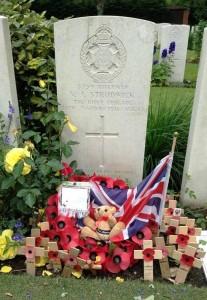 The grave of Rifleman Valentine Strudwick, age 15