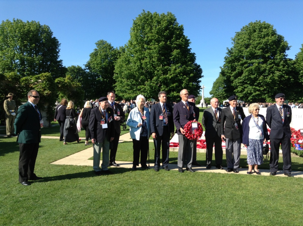 02 Our REME Group lay their wreath at Bayeux Cemetery