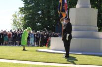 The Queen lays her wreath at the Great Cross at the 70th Anniversary at Bayeux War Cemetery – Normandy & D-Day Landings 70th Anniversary Ceremony & Battlefield Tour
