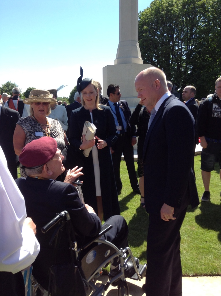 06 William Hague meets veterans at the Bayeux Ceremony