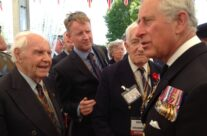 Our Normandy veteran Bill Betts meets Prince Charles at Bayeux War Cemetery – Normandy & D-Day Landings 70th Anniversary Ceremony & Battlefield Tour