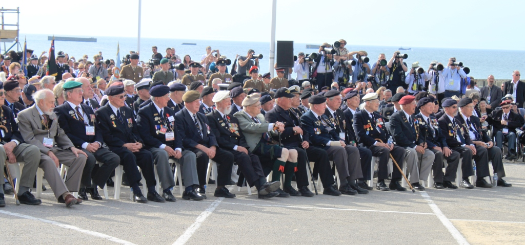 11 Veterans at the Arromanches Ceremony