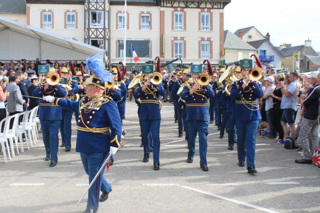 12 Normandy band at the Arromanches Ceremony