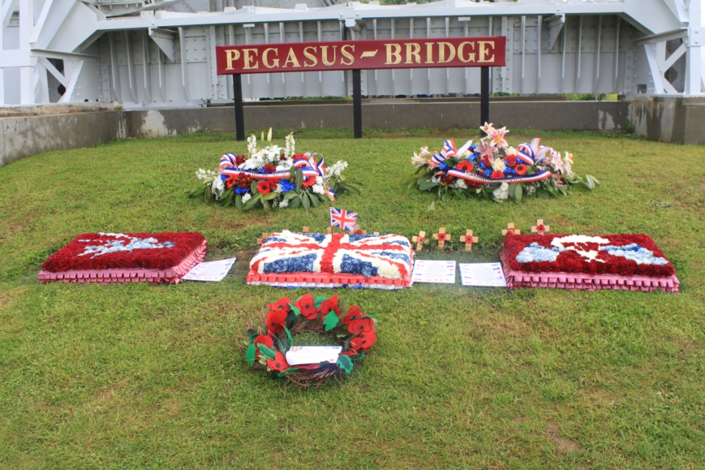 21 The wreaths at Pegasus Bridge